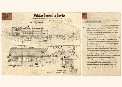 Načrt žage Andreja Telbana s Sovodnja v Poljanski dolini, 1905