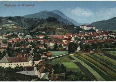Razglednica Škofje Loke, okoli 1910