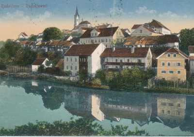 Razglednica Novega mesta, pred 1918