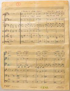 SI_ZAL_NME/0192, Kozina Marjan, t.e. 4, a.e. 139. Mojčina pesem, notni zapis, rokopis. Avtor besedila je Frane Milčinski - Ježek.
