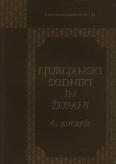 Naslovnica Zgodovina ljubljanskih sodnikov in županov: 1269–1820, 4. zvezek