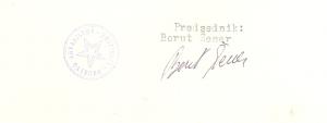 Podpis predsednika