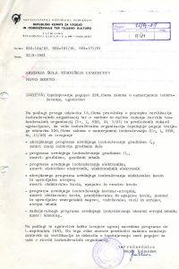 Dopis o izpolnjevanju pogojev 220. člena zakona o usmerjenem izobraževanju. SI_ZAL_NME/00275 Šolski center Novo mesto, t. e. 1, Dopisi.