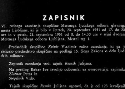 Zapisniki sej Mestnega ljudskega odbora Ljubljana, 1945–1955